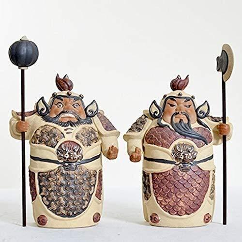 J-Clock Adornos cerámica Estatua símbolo Riqueza para protegerse la Mala Fortuna Decoraciones Feng Shui Hogar Sala Estar Porche Estilo Chino Figura la Suerte 1126