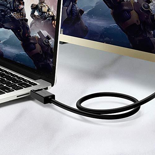 UGREEN Cable DP a DP, Cable DisplayPort de Vídeo y Audio 1.2 Macho a Macho con Conectores Dorados, 1080P Full HD Cable DP de Velocidad de Audio hasta 4K para HDTV, Proyectores y Monitores(1 Metro)