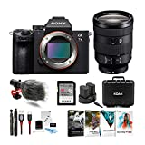 Sony a7 III Full Frame Mirrorless Interchangeable Lens Camera w/FE 24-105mm f/4 G OSS Full-Frame E-Mount Lens Bundle
