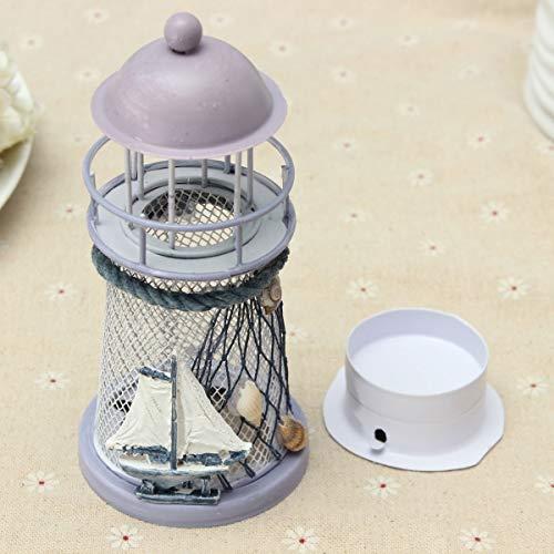 Nachtlampe Leuchtturm Eisen Kerzenhalter Nautische Strand Anker Home Licht Lampen Hochzeit