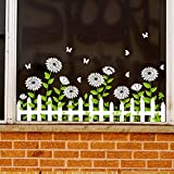 PISKLIU Stickers Muraux Parterre Papillon vitrine Verre Autocollant Style café Magasin plinthe décalcomanies Autocollant fenêtre décor