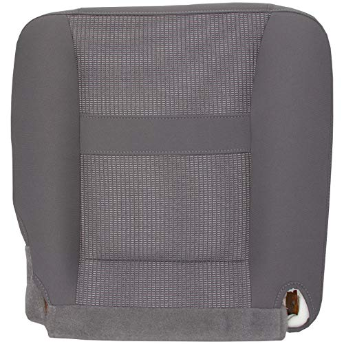 The Seat Shop Passenger Bottom Replacement Cloth Seat Cover - Medium Slate Gray (Compatible with 2006-2008 Dodge Ram SLT 1500, and 2006-2009 SLT 2500 and 3500)