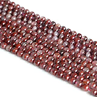 "Jewel Beads Natural Beautiful jewellery 1 Strands Natural Purple Red Auralite Super 23 Crystal Small Round Loose Beads 6mm 15.5"" 05171Code:- JBB-4469"