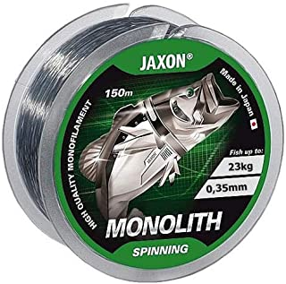 Jaxon Monolith - Sedal de Pesca (Bobina de 150 m, monofilamento 0,16-0,35 mm)