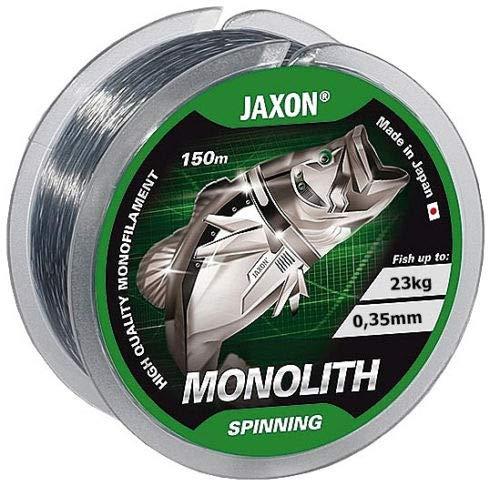 Jaxon Monolith - Sedal de Pesca (Bobina de 150 m, monofilamento 0,16-0,35 mm), 0,25mm / 13kg