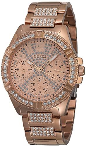 GUESS Relógio esportivo de 40 mm, Tom dourado rosa