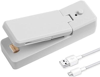 WONCHIEF Máquina de sellado portátil, sellador de bolsas de calefacción mini para alimentos, recargable por USB de calor rápi