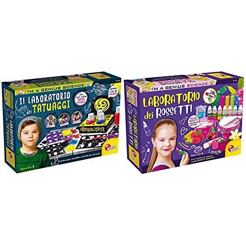 Liscianigiochi- I'M A Genius Science Gioco Per Bambini Laboratorio Dei Tatuaggi, Multicolore, 72965 & I'M A Genius Gioco Per Bambini Laboratorio Dei Rossetti, 66872, 8 - 12 Anni