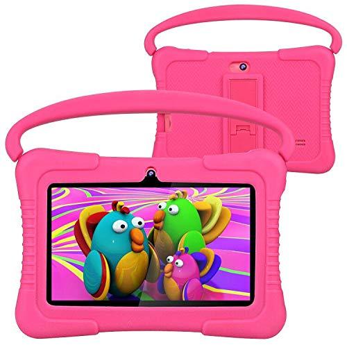Tablet para niños, Foren-Tek 7 Pulgadas Android 9.0 Tablet para niños, 2 GB + 32 GB, Modo Infantil preinstalado, WiFi Android, Funda a Prueba de niños