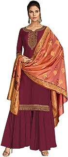 Ready To Wear Indian Women Traditional Heavy Designer Georgette Salwar Kameez Banarasi Silk Zari Dupatta Full Stitch Suit Panjabi Wedding Ethnic Party Wear 8655