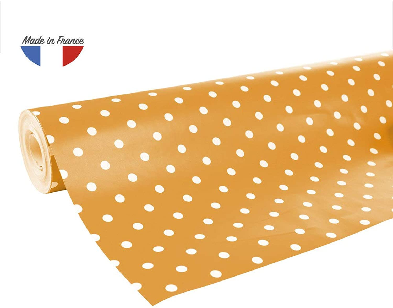 Excellia 80g, 50x(0,50  0,20m), Pois Weiß Fond Orange B016WQ1CO8 | Fairer Preis