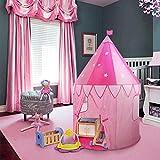 Wolfwise - tenda da interno per bambini, tenta giocattolo per bambini e bambine, per interni ed esterni, con borsa da trasporto