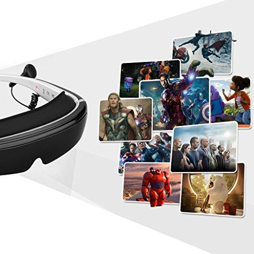 "『Excelvan 3Dヘッドマウントディスプレイ 98""仮想スクリーン TV/PS3/PS4/WII対応 IVS-2』の5枚目の画像"