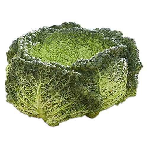 Loberon Schale Marius, Polyresin, H/B/T ca. 10.8/19 / 18.8 cm, grün