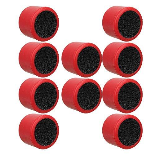 Vbest life Snooker Cue Sander, 10 Stück Kunststoff Snooker Cue Rod Sander Cutter Shaper Reparaturwerkzeug Billardzubehör(rot)