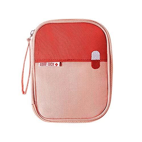 Caja De Almacenamiento Caja De Almacenamiento De Primeros Auxilios Caja De Medicina De Emergencia De Tela Botiquín De Primeros Auxilios Viaje Bolsa De Medicina Portátil Pink,One Size