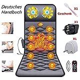 ZHHME Massagematte mit Wärmefunktion - Akupressur Massagegerät Massageliege Klappbar -