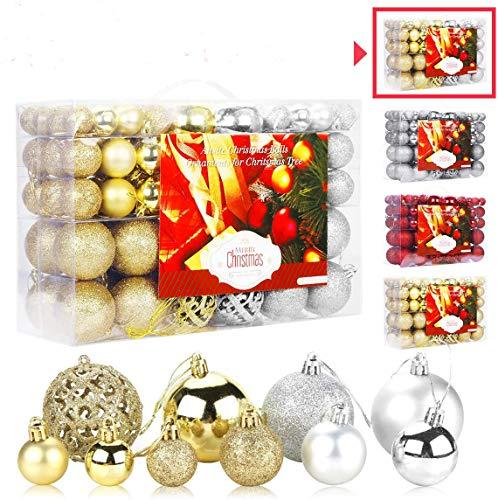 Aitsite 100 pack mini Christmas tree ornaments