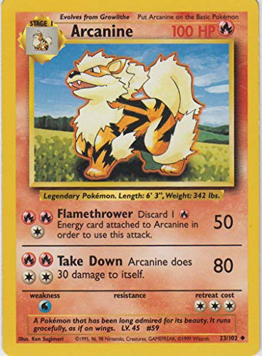 Arcanine - 23/102 - Uncommon - Unlimited Edition - Base Set