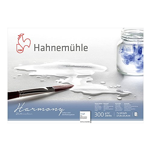 Hahnemuhle Harmony Watercolor Block Rough 7x10 Inches 12 Sheets