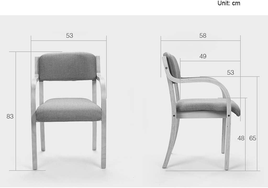 WDX- Chaise de Salle, Chaise de Bureau Simple, créative Dossier, Chaise Loisirs, Maison Adulte Chaise de Salle Confortable (Color : Dark Green) Dark Green
