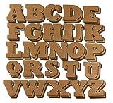Juvale Cartone Lettere - 104 Pezzi Lettere di Alfabeto Bordo Decorativo per Bambini, Artigianato, 4 di Ogni Lettera, Marrone, 4,5 x 3 Pollici