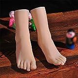 Yeah-hhi Pied Mannequin Femme Lifelike Soft Touch TPE pour Sketch Nail Art Pratique Bijoux Chaussures Affichage Sock,Right