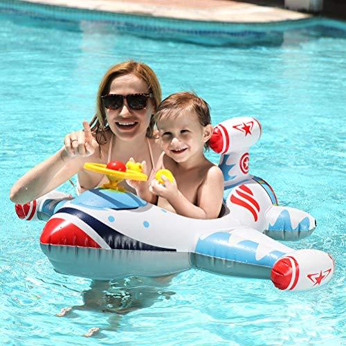 Free Swimming Baby Inflatable Airplane Swimming Float Seat Boat Pool Swim Ring forToddler