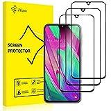 GiiYoon-3 Piezas Protector de Pantalla para Samsung Galaxy A40 Cristal Templado,[Sin Burbujas] [Cobertura Completa] [9H Dureza] Vidrio Templado HD Protector Pantalla para Samsung Galaxy A40