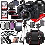 Canon EOS 2000D (Rebel T7) DSLR Camera w/Canon EF-S 18-55mm F/3.5-5.6 Zoom Lens + Case + 128GB Memory (28pc Bundle)