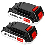 2Packs LBXR20 3000mAh Replacement Battery Compatible with Black and Decker 20V Lithium Battery Max LB20 LBX20 LST220 LBXR2020 LBXR2020-OPE LB2X4020 Cordless Power Tools