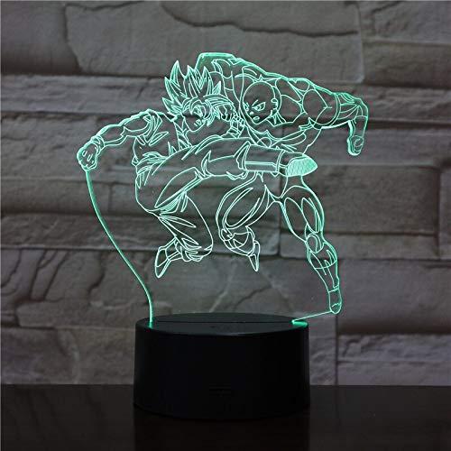 Nachtlicht Sohn Ji Menschen Illusion Tischlampe Farbwechsel Action Charakter Weihnachten Geburtstagsgeschenk
