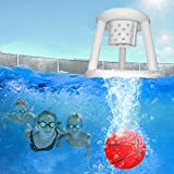 LONYKIBEE Ball Games for Swimming Pool, Pool Floating Toy Ball, Inflatable Basketball Hoop Set for Diving Game, Summer Toys Yard Game Pool Games for Teens, Kids, or Adults(Basketball)