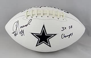 Jay Novacek Autographed Dallas Cowboys Logo Football w/ Insc-Beckett Auth