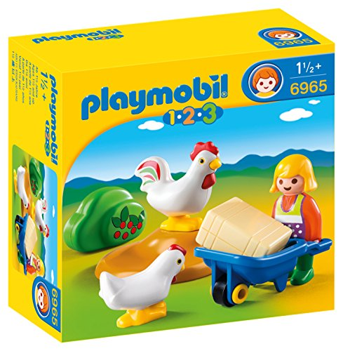 Playmobil 6965 - Contadina con Animali, Plastica, Multicolore