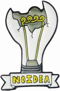 HuangKang Enamel Pin Light Bulb Chemical Beaker Badge Brooch Lapel Pin Denim Jeans Shirt Bag Cartoon Jewelry