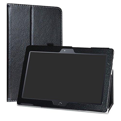 """LiuShan BQ Aquaris M10 Funda, Folio Soporte PU Cuero con Funda Caso para 10.1"""" BQ Aquaris M10 Android Tablet,Negro"""