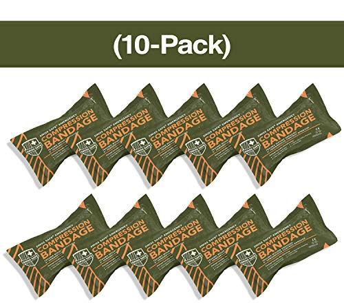 """Israeli 6"""" Compression Bandage [STERILE]: Authentic Compact Design for Emergency Wound Dressing, First Aid and Trauma Kit (10-Pack)"""