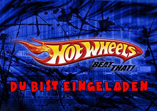 Hot Wheels Einladungskarten 6er Set inkl. 6 Umschläge T11