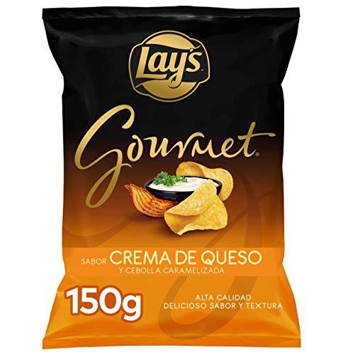 Lay's Gourmet Patatas de Bolsa, Queso y Cebolla, 150g