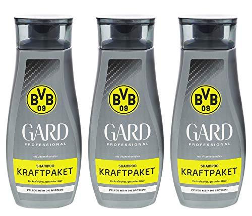 3x Gard Shampoo BVB 09 Kraftpaket je 250ml 0% Silikonöle Mit Coffein Kräftigt