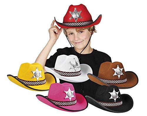 narrenkiste B04110 weiß Kinder Sheriff Hut Cowboyhut