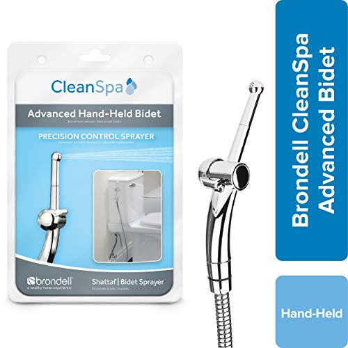 Hand Held Bidet Sprayer for Toilet: Brondell CleanSpa Advanced Bidet Attachment with Precision Pressure Control Jet Spray - Ergonomic Handheld Bidet for Toilet - Toilet Water Sprayer and Hose Set