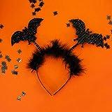 Oblique Unique® 50 kleine Spinnen aus Kunststoff für Halloween Fasching Karneval Streudeko Tisch Deko Schwarz - 8