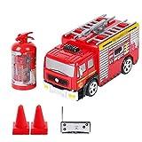 LYXCM Camión De Bomberos De Control Remoto, Rescue RC Fire Engine Mini Charging Car con Escalera Modelo De Juguete De Simulación con Funciones De Sonido De Luz Realista
