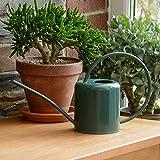 CKB LTD® - Regadera para Interiores (1,4 L, Acero galvanizado, para Plantas de hogar, diseño contemporáneo de Metal con Boquilla Estrecha y Mango Alto), Verde Oscuro