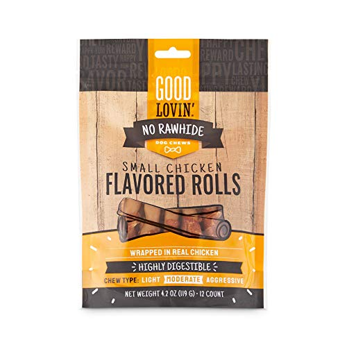 Good Lovin' No Rawhide Chicken Flavored Rolls for Dogs