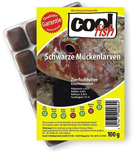 Cool Fish Schwarze Mückenlarven, 15 x 100g-Blister,...