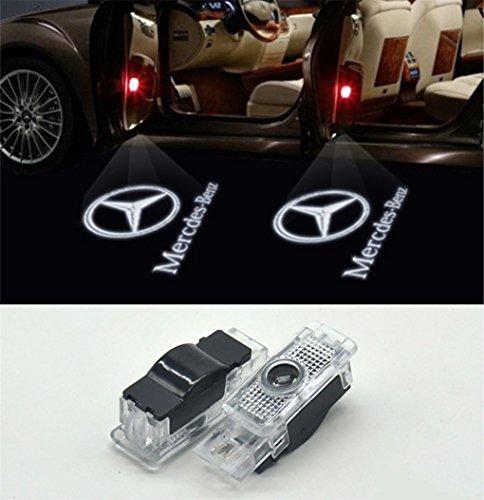 Willkommens Licht, KVCH 1 Paar LED-Höflichkeitsleuchten Einfache Installation Autotür Projektor Logo Ghost Shadow Lichter für Benz C (W203) CLK (W208,W209) SLK (R171,R172) SLR(C119)