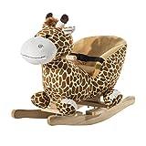 homcom Cavallo a Dondolo in Legno Giraffa per Bambini 60 x 33 x...